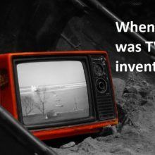 when was tv invented