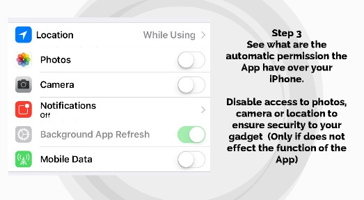 how to check iphone app permission