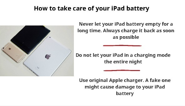 how to take care of ipad battery