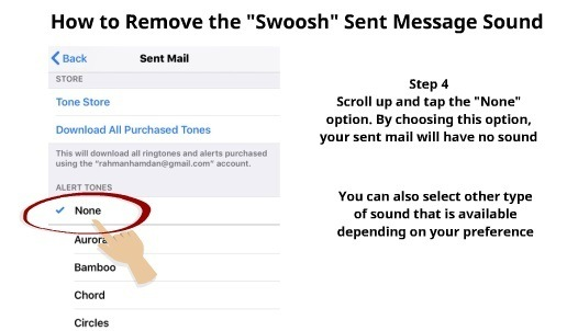 How to Remove swoosh sound on iPhone 4
