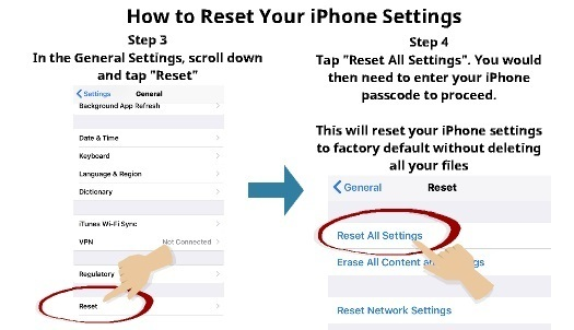 How to reset your iphone settings