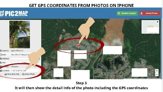 Get GPS coordinates from photo 3