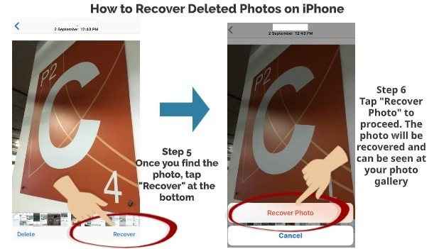 How to recover deleted photos on iPhone step 5 step 6