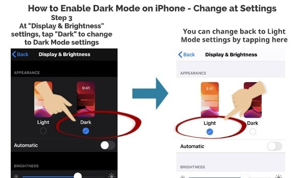 How to Enable Dark Mode on iPhone Change at Settings 2