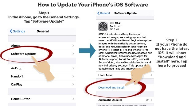 How to update iPhone iOS