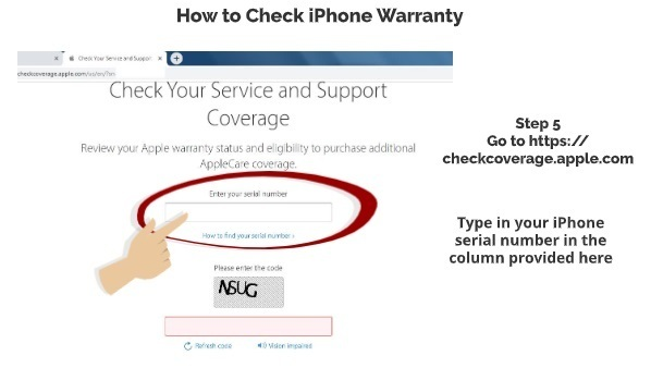 How to check iPhone warranty expired or not step 5
