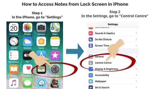 How to Access Notes App from Lock Screen