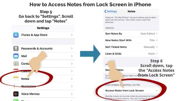 How to Access Notes App from Lock Screen 4