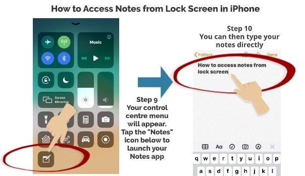 How to Access Notes App from Lock Screen 6