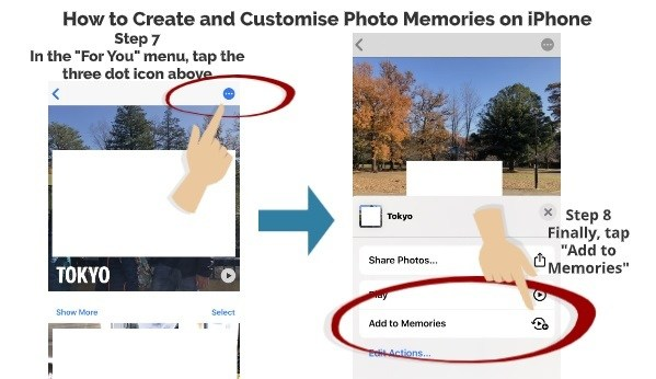 How to create and customise photo memories on iPhone step 7