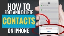How to Edit and Delete Contacts on iPhone